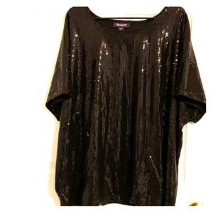 Short Sleeve Sequined Blouse